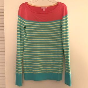 Lilly Pulitzer Crew Neck Striped Sweater